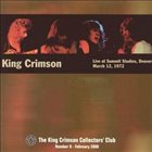 KING CRIMSON Live At Summit Studios, 1972 album cover