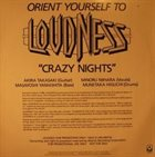 LOUDNESS Crazy Nights album cover
