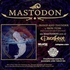 MASTODON Mastodon / Avenged Sevenfold album cover