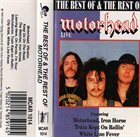 MOTÖRHEAD The Best & The Rest Of Motorhead (live) album cover
