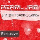 PEARL JAM 9.11.2011 Toronto, Canada album cover