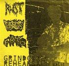 PULMONARY FIBROSIS Grindcore Rehearsal 3 Way Split album cover