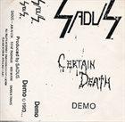 SADUS Certain Death album cover