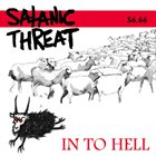 SATANIC THREAT In To Hell album cover