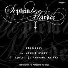 SEPTEMBER MURDER Promo album cover