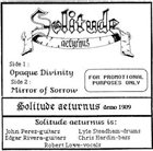 SOLITUDE AETURNUS Demo 1989 album cover