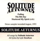 SOLITUDE AETURNUS Promo album cover