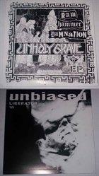 UNHOLY GRAVE Raw Hammer Damnation / Liberator '95 album cover