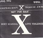 X JAPAN Sexy Scandal Love Violence (1986) album cover