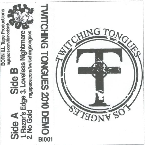 TWITCHING TONGUES - 2010 Demo cover