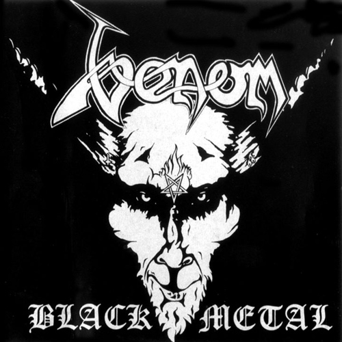 VENOM - Black Metal cover
