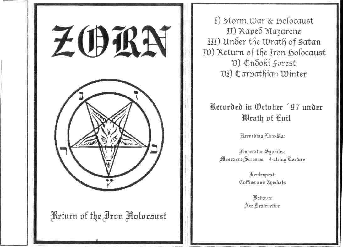 ZORN (BY) - Return Of The Iron Holocaust cover