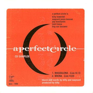 A PERFECT CIRCLE - CD Sampler cover