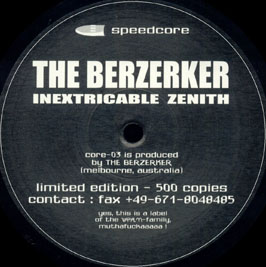 THE BERZERKER - Inextricable Zenith cover