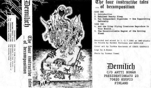DEMILICH - The Four Instructive Tales Of Decomposition cover