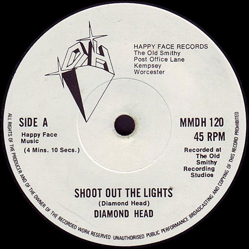 DIAMOND HEAD - Shoot Out The Lights cover