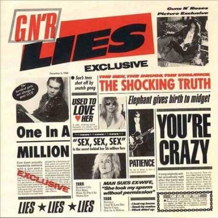 GUNS N' ROSES - G N' R Lies cover