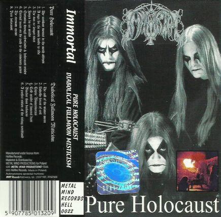 IMMORTAL - Pure Holocaust / Diabolical Fullmoon Mysticism cover