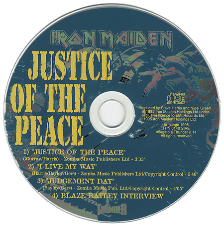 IRON MAIDEN - Justice Of The Peace cover