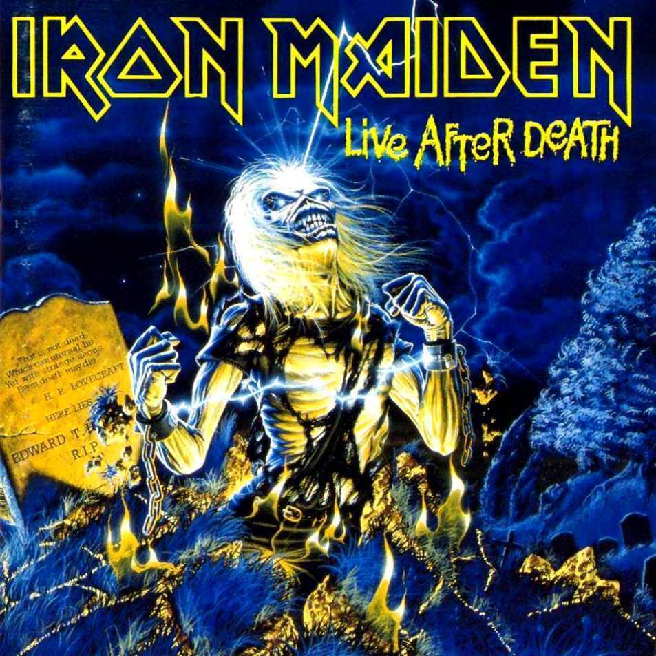 IRON MAIDEN - Live After Death cover