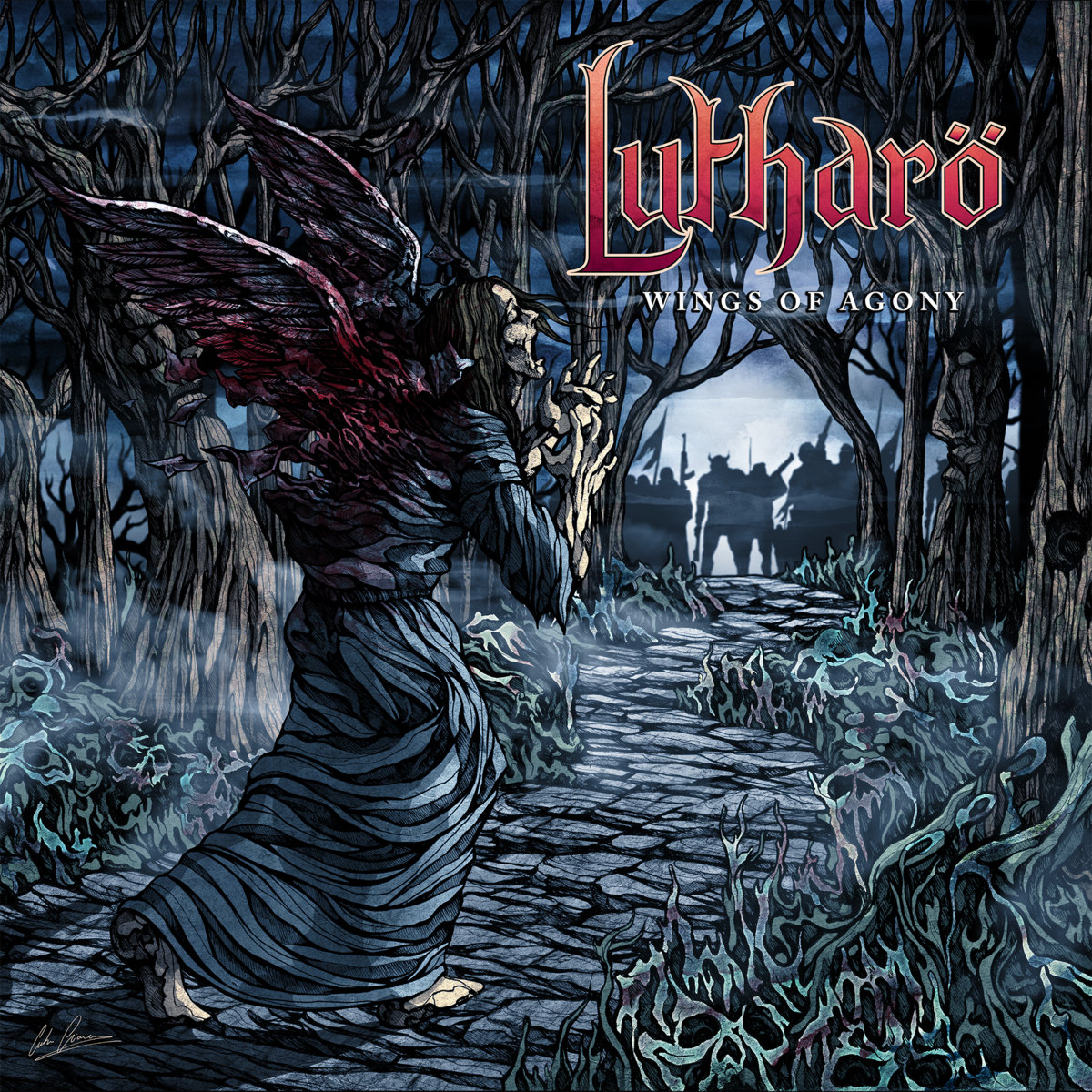 LUTHARÖ - Wings of Agony cover