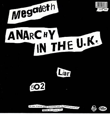 MEGADETH - Anarchy in the U.K. cover