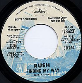 RUSH - Finding My Way / Need Some Love cover