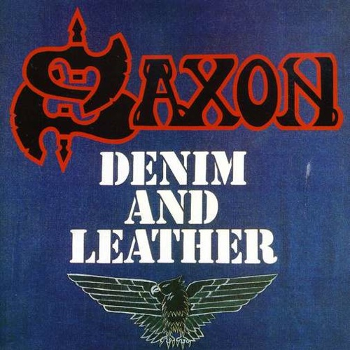 SAXON - Denim and Leather cover
