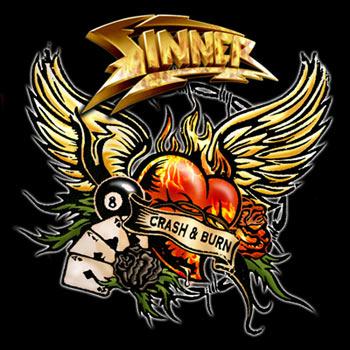 SINNER - Crash & Burn cover