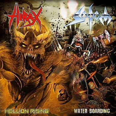 SODOM - Hellion Rising / Water Boarding cover