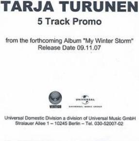 TARJA - 5 Track Promo cover
