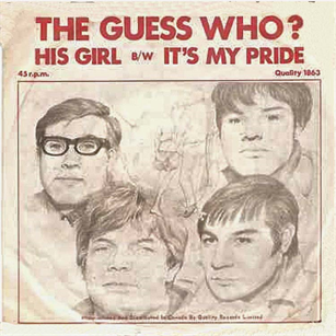THE GUESS WHO - His Girl cover