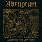 ABRUPTUM De Profundis Mors Vas Consumet album cover