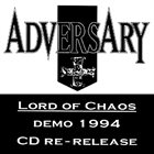ADVERSARY Lord of Chaos album cover