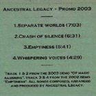 ANCESTRAL LEGACY Promo 2003 album cover