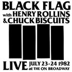 BLACK FLAG Live at the On Broadway 1982 album cover