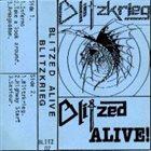 BLITZKRIEG Blitzed Alive album cover