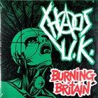 CHAOS U.K. Burning Britain album cover