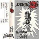 DECISION D Testimony of Faith album cover