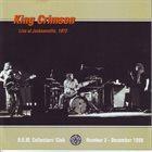 KING CRIMSON Live At Jacksonville, 1972 album cover