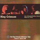 KING CRIMSON Live At Summit Studios, 1972 album cover