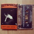 OUTSPOKEN (CA) Don't Admit Defeat album cover