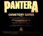 PANTERA Cemetery Gates album cover