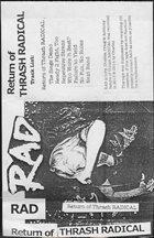RAD Return Of Thrash Radical album cover