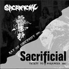 SACRIFICIAL Ray of Obscenity / Ticket to Paranoia album cover