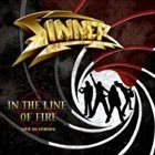 SINNER In the Line of Fire album cover