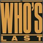 THE WHO Who's Last album cover