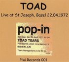 TOAD Live At St. Joseph, Basel 22.04.1972 album cover